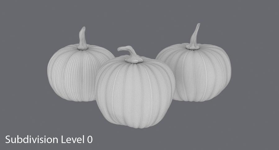 Pumpkins royalty-free 3d model - Preview no. 12