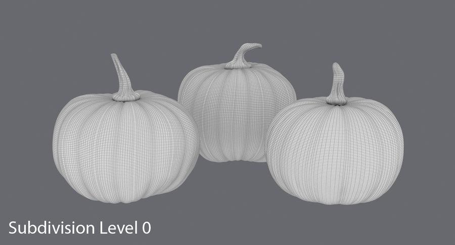 Pumpkins royalty-free 3d model - Preview no. 16