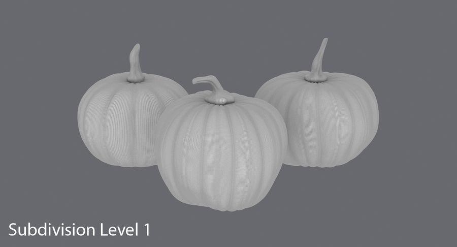 Pumpkins royalty-free 3d model - Preview no. 13