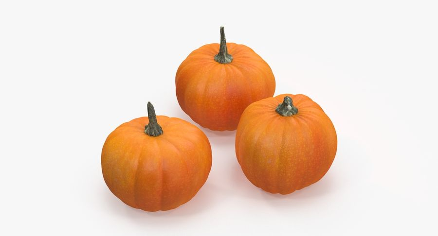 Pumpkins royalty-free 3d model - Preview no. 8