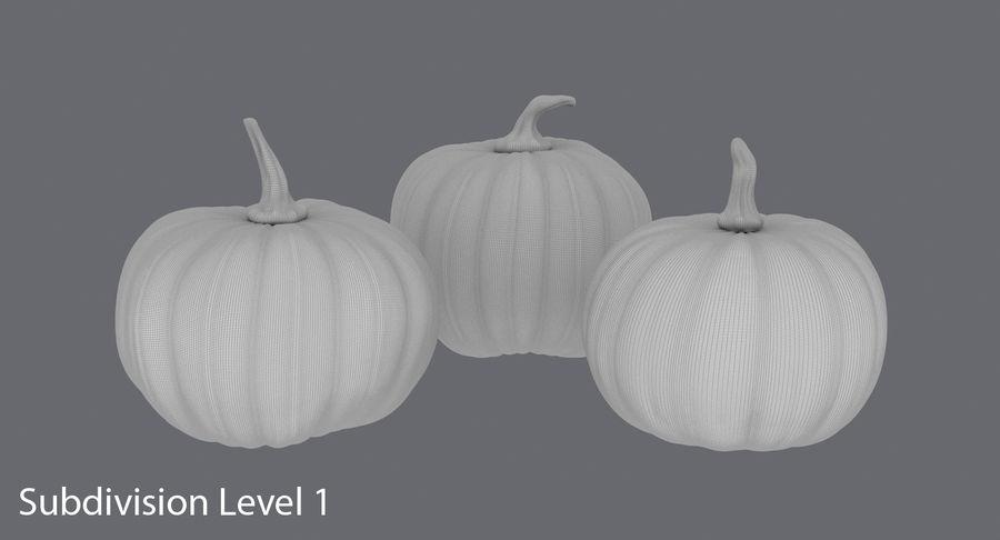 Pumpkins royalty-free 3d model - Preview no. 17