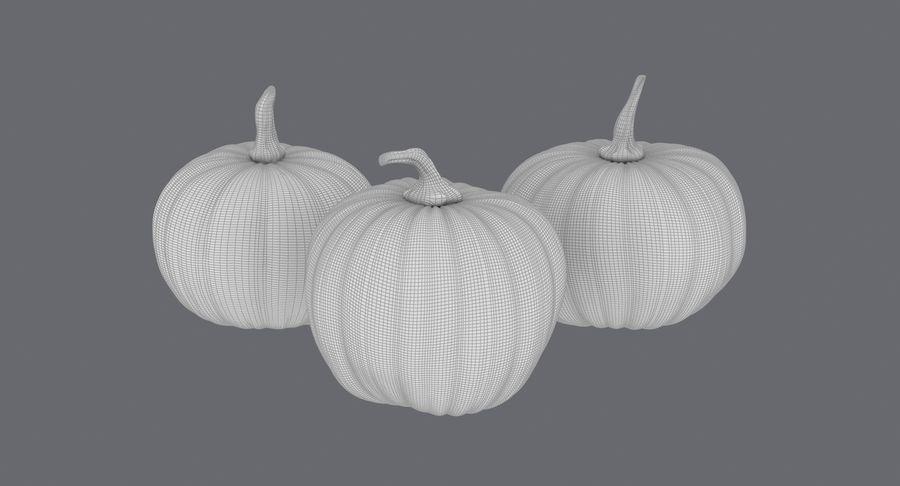 Pumpkins royalty-free 3d model - Preview no. 20