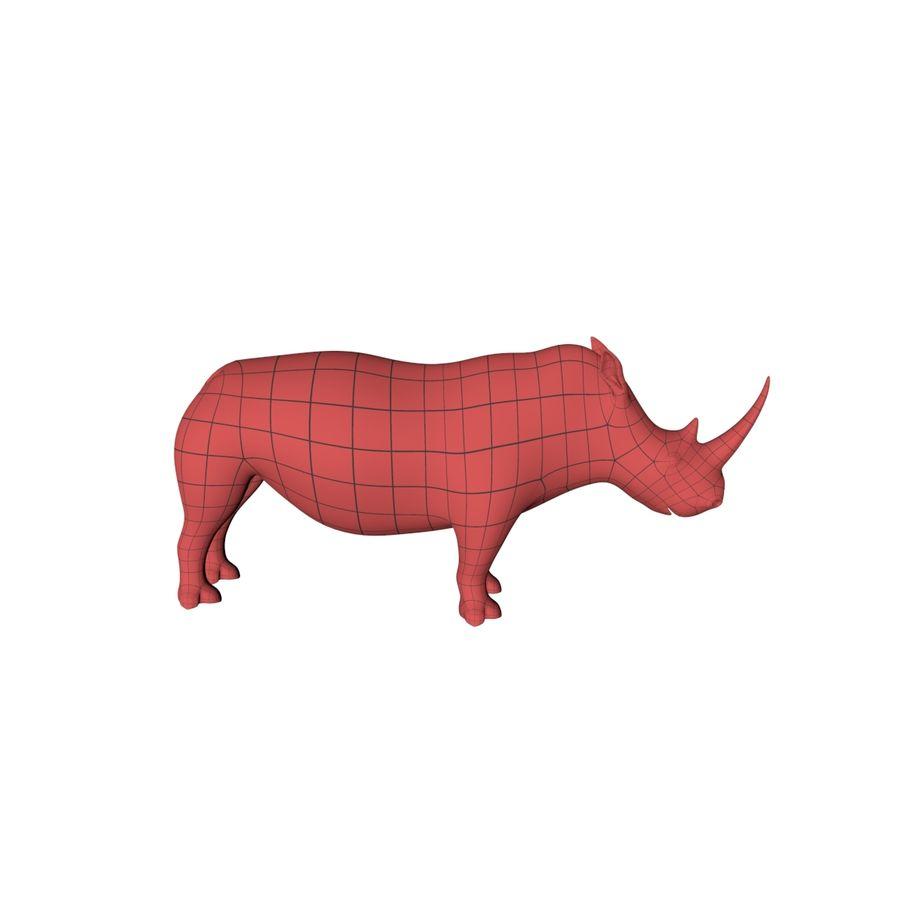 アフリカの動物ベースメッシュ royalty-free 3d model - Preview no. 4
