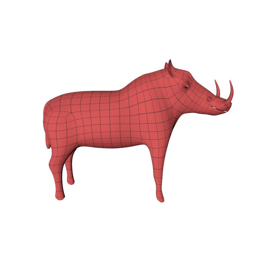 アフリカの動物ベースメッシュ royalty-free 3d model - Preview no. 7