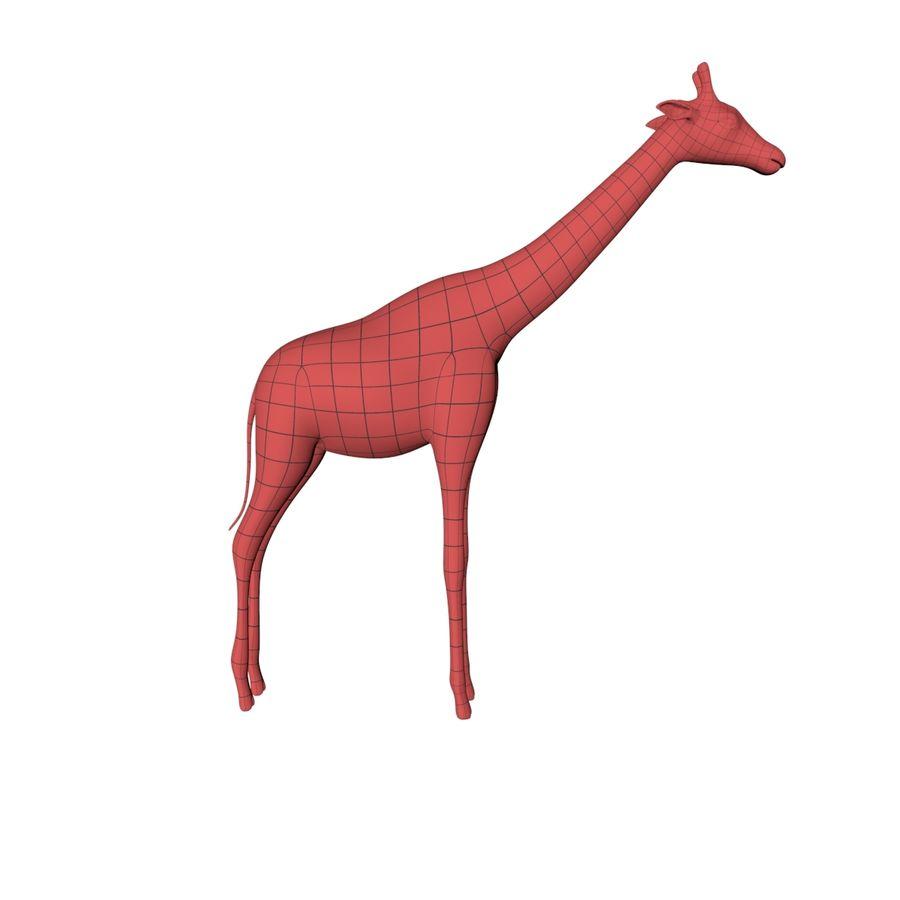 African animals base meshes royalty-free 3d model - Preview no. 2