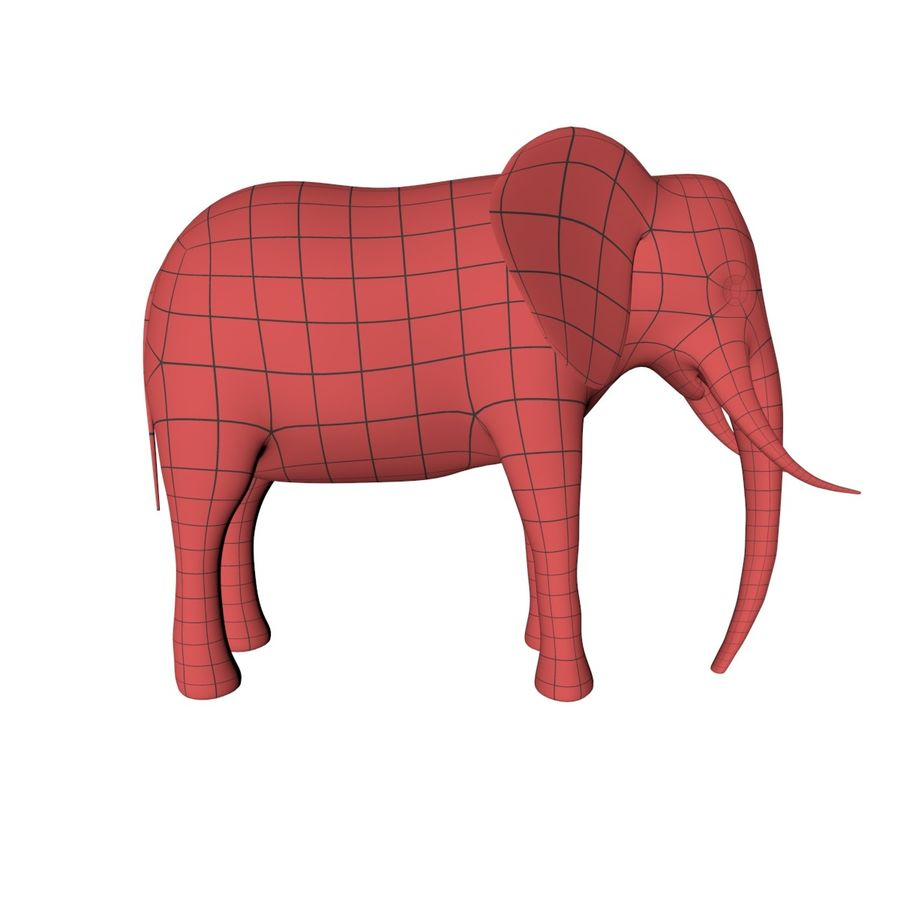African animals base meshes royalty-free 3d model - Preview no. 3