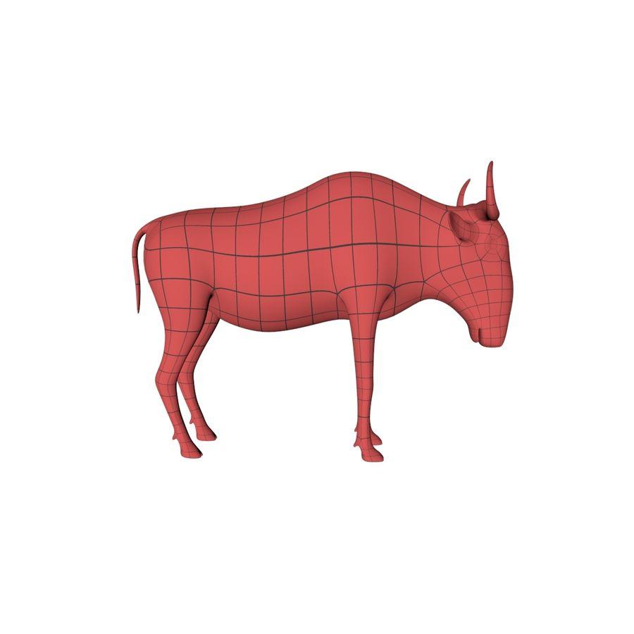 Afrikanska djur basnät royalty-free 3d model - Preview no. 8