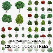 Collezione Alberi decidui - 100 Alberi - V-Ray + VRMESH 3d model