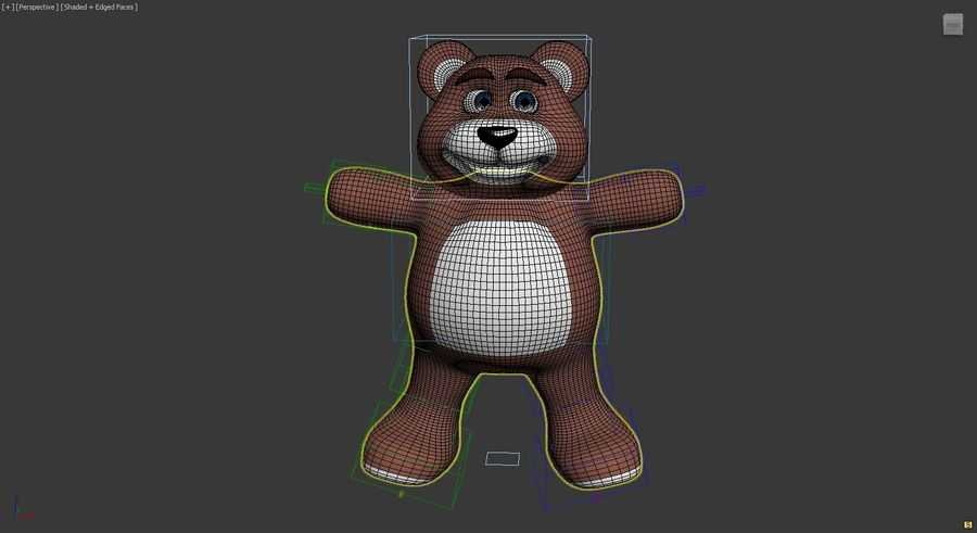 Cartoon Bear royalty-free 3d model - Preview no. 7