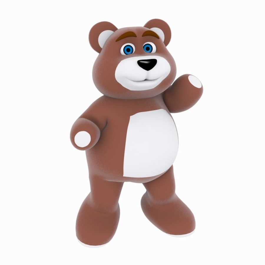 Cartoon Bear royalty-free 3d model - Preview no. 6