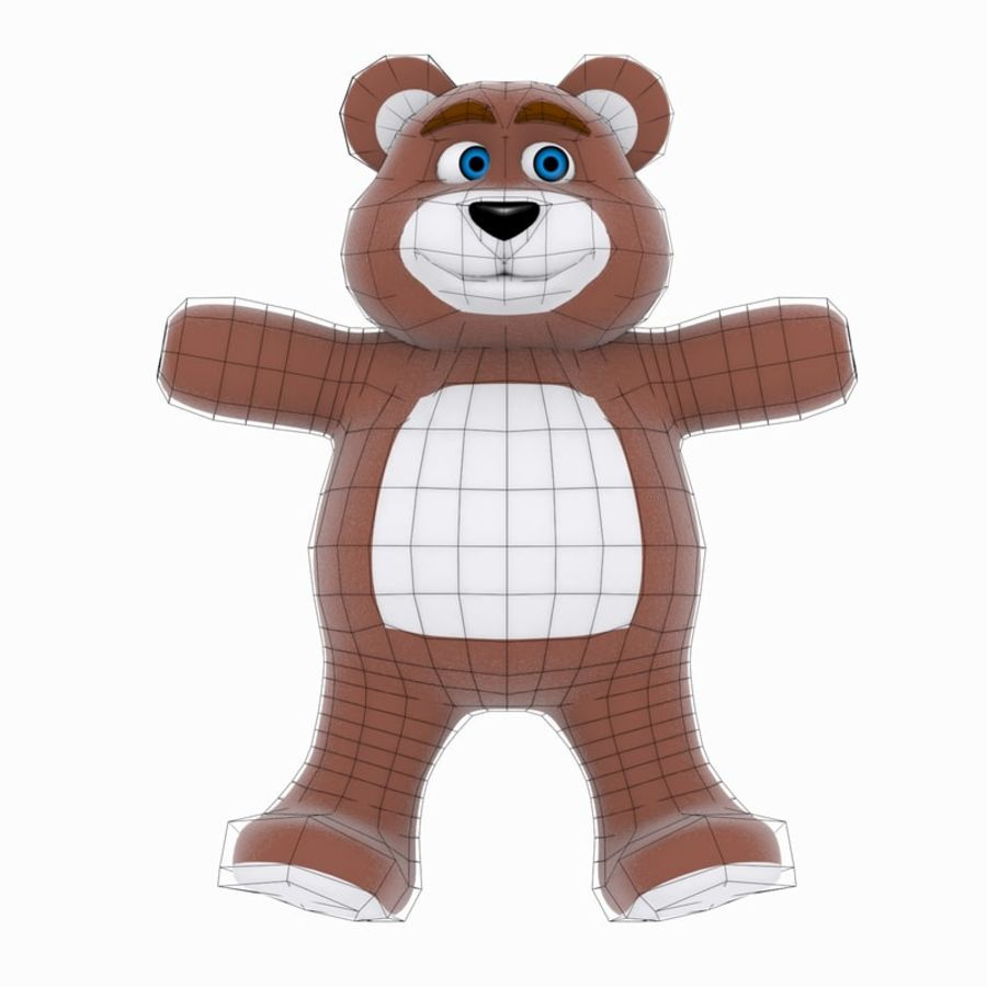 Cartoon Bear royalty-free 3d model - Preview no. 8