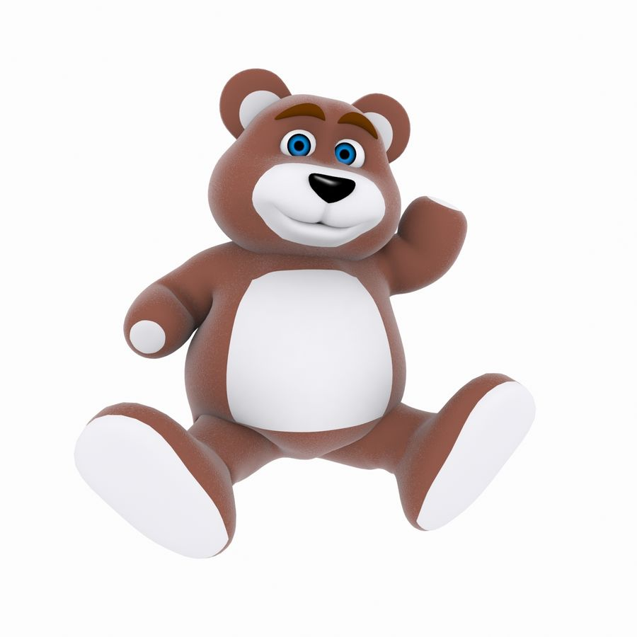 Cartoon Bear royalty-free 3d model - Preview no. 3