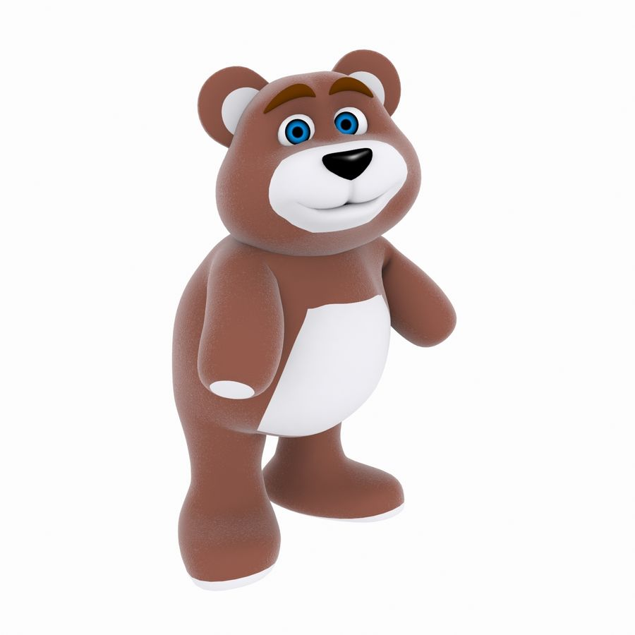 Cartoon Bear royalty-free 3d model - Preview no. 5
