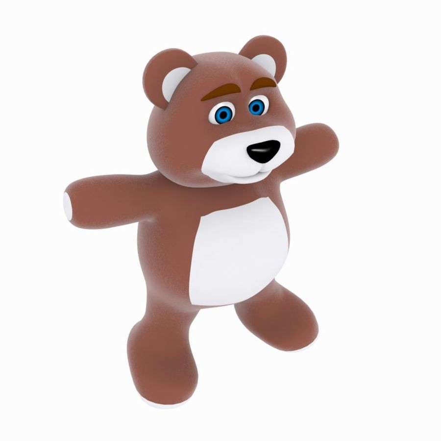 Cartoon Bear royalty-free 3d model - Preview no. 4