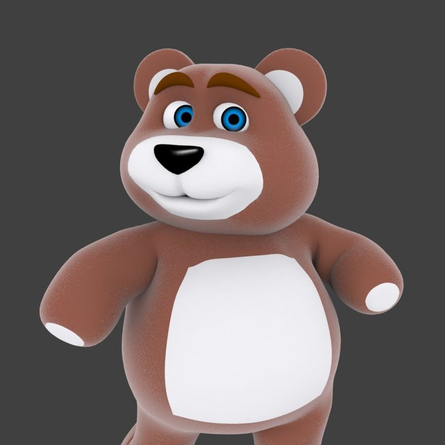 Cartoon Bear royalty-free 3d model - Preview no. 10