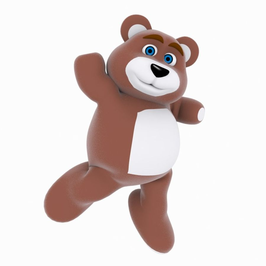 Cartoon Bear royalty-free 3d model - Preview no. 2