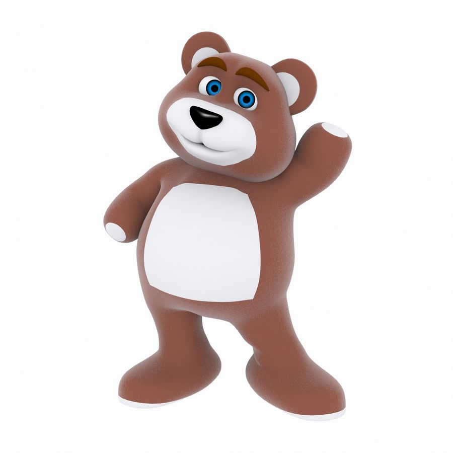 Cartoon Bear royalty-free 3d model - Preview no. 1