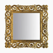 Gold Square Mirror 3d model