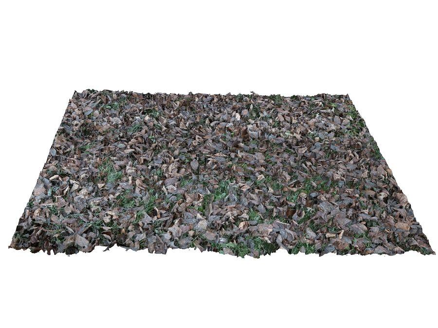 Frozen grass lawn 16K royalty-free 3d model - Preview no. 4