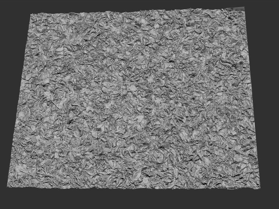 Frozen grass lawn 16K royalty-free 3d model - Preview no. 5