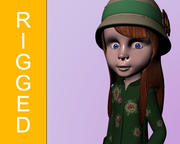 Character Girl Sally 3d model