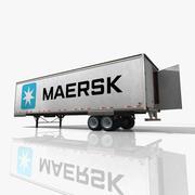Reboque do caminhão de Maersk 3d model