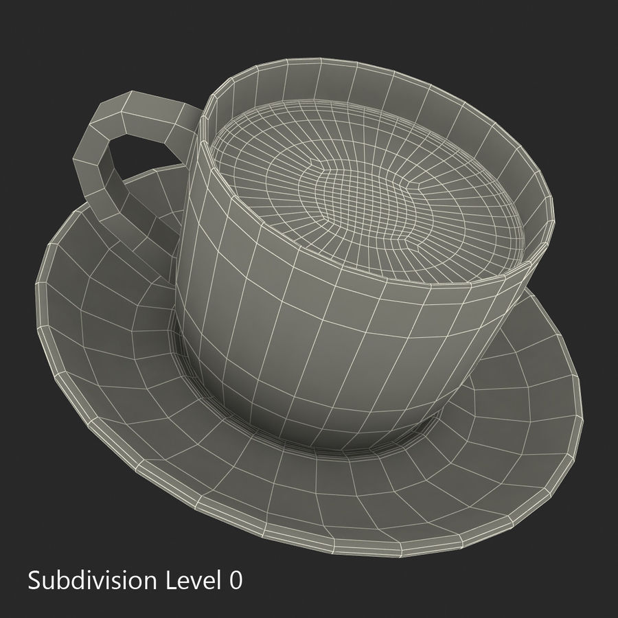 Coffee Cup 4 royalty-free 3d model - Preview no. 21