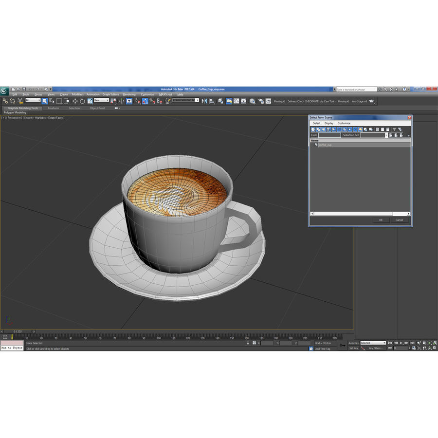 Coffee Cup 4 royalty-free 3d model - Preview no. 26