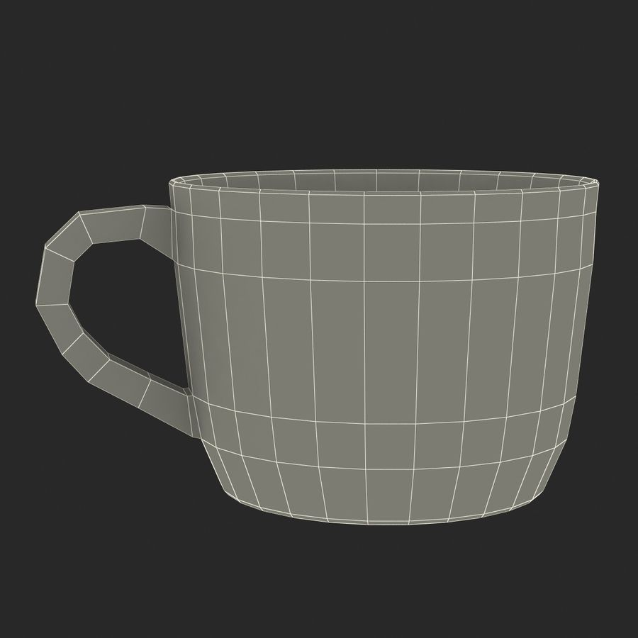 Coffee Cup 4 royalty-free 3d model - Preview no. 30