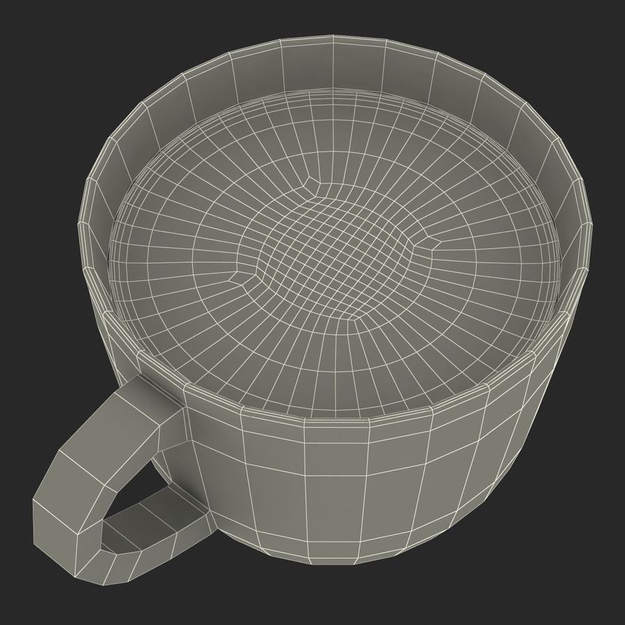 Coffee Cup 4 royalty-free 3d model - Preview no. 31