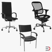 Bürostühle-Sammlung 3d model