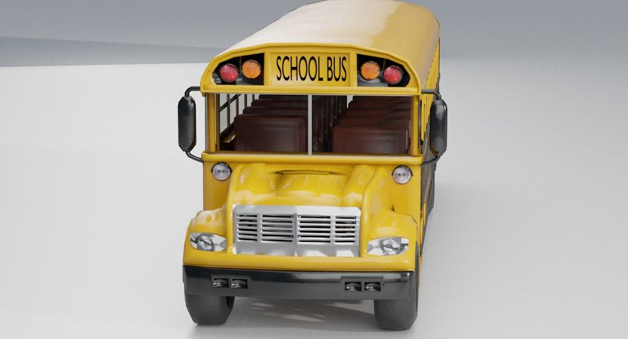 School bus royalty-free 3d model - Preview no. 7
