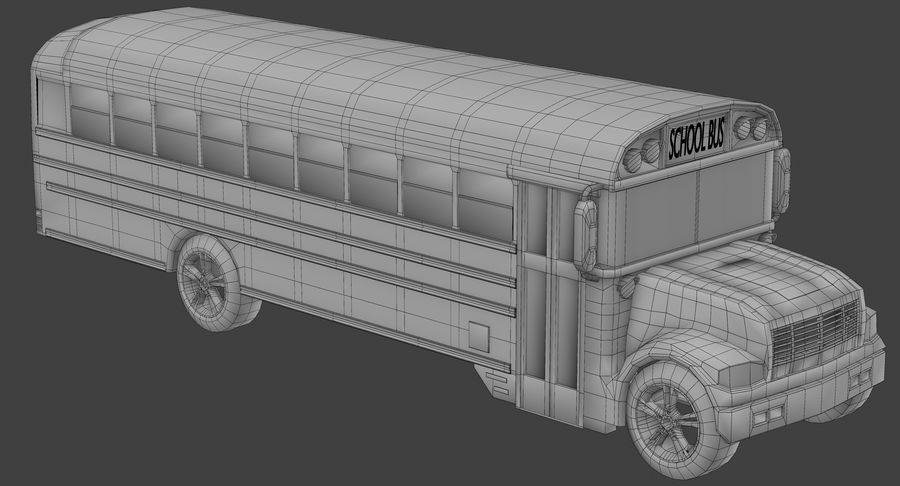 School bus royalty-free 3d model - Preview no. 8