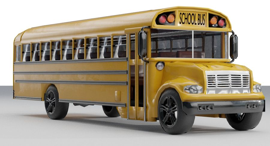 School bus royalty-free 3d model - Preview no. 4