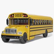Skolbuss 3d model