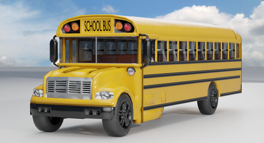 School bus royalty-free 3d model - Preview no. 2