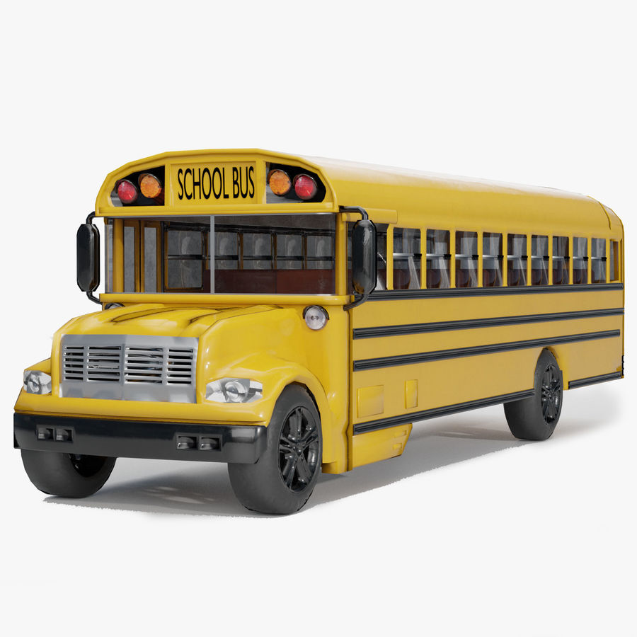 School bus royalty-free 3d model - Preview no. 1