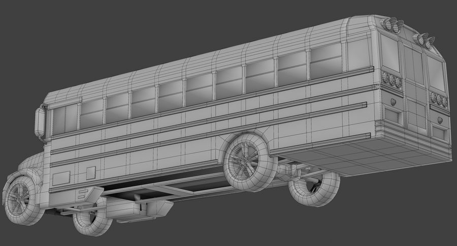 School bus royalty-free 3d model - Preview no. 9