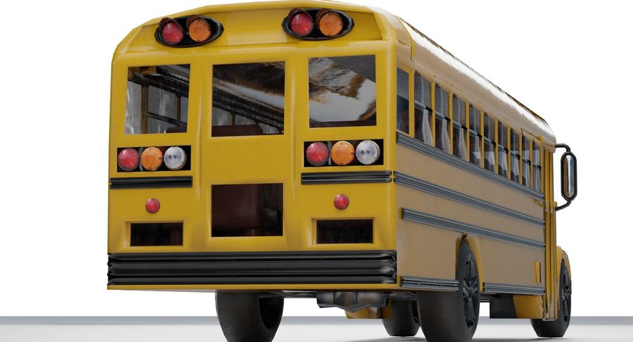 School bus royalty-free 3d model - Preview no. 6