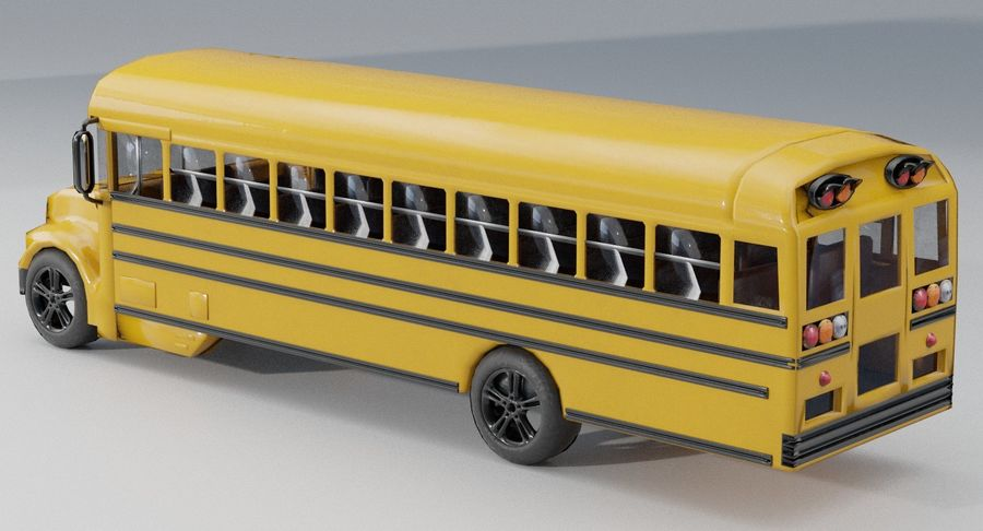 School bus royalty-free 3d model - Preview no. 3