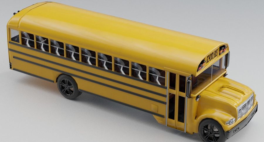 School bus royalty-free 3d model - Preview no. 5