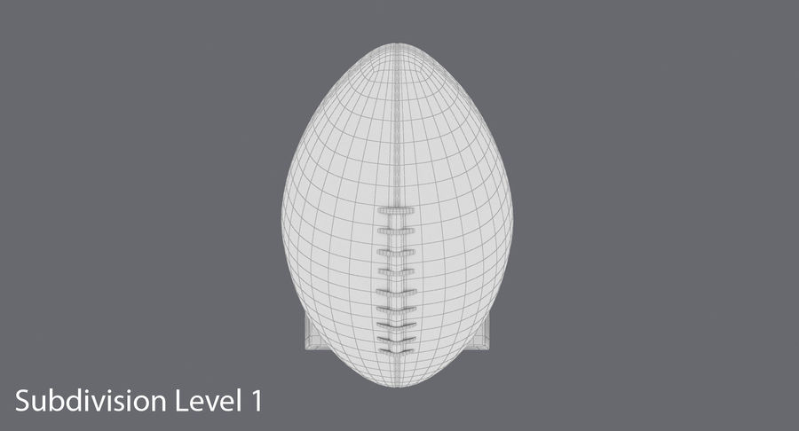 Football Trophy royalty-free 3d model - Preview no. 14
