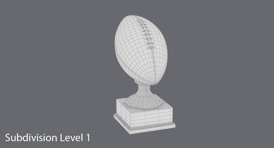 Football Trophy royalty-free 3d model - Preview no. 12