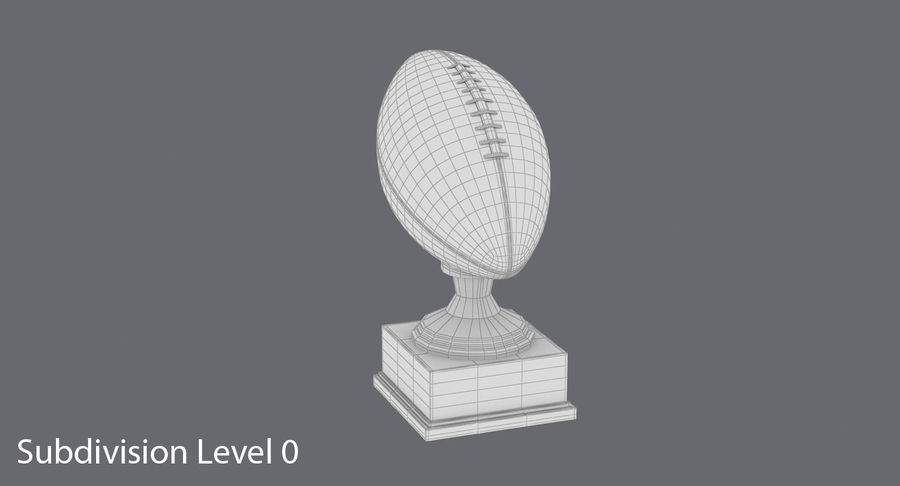 Football Trophy royalty-free 3d model - Preview no. 11