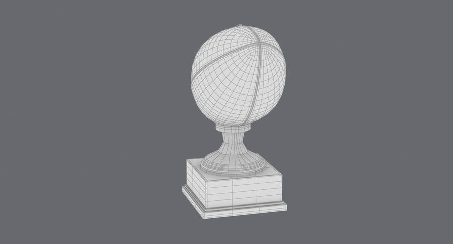 Football Trophy royalty-free 3d model - Preview no. 19