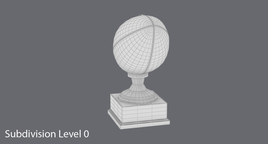 Football Trophy royalty-free 3d model - Preview no. 15