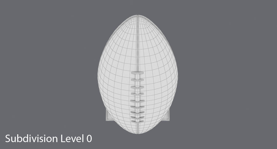 Football Trophy royalty-free 3d model - Preview no. 13
