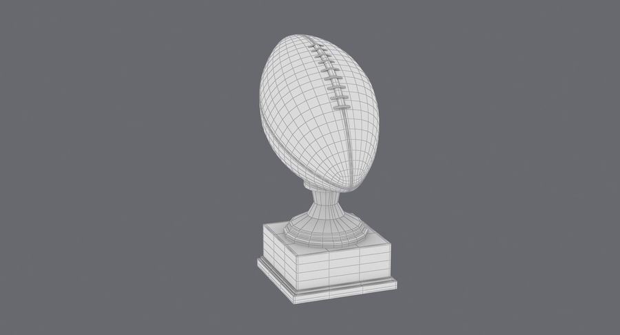 Football Trophy royalty-free 3d model - Preview no. 18