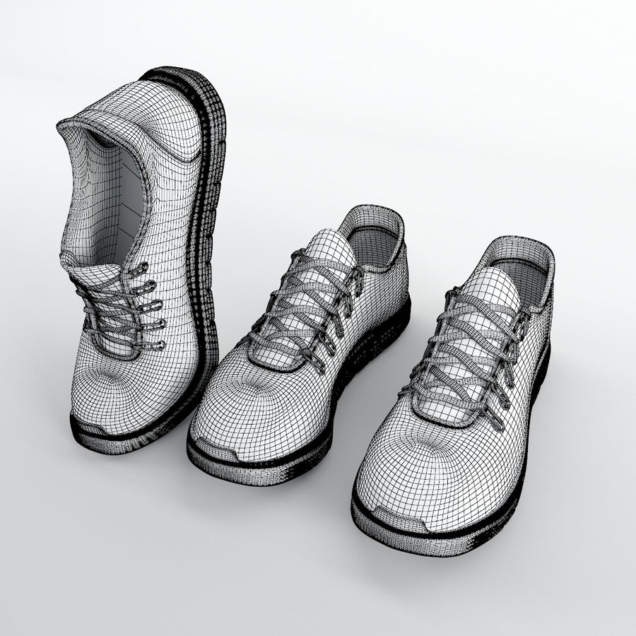 870a6918ac8 운동화 - Nike Free RN Distance royalty-free 3d model - Preview no. 8