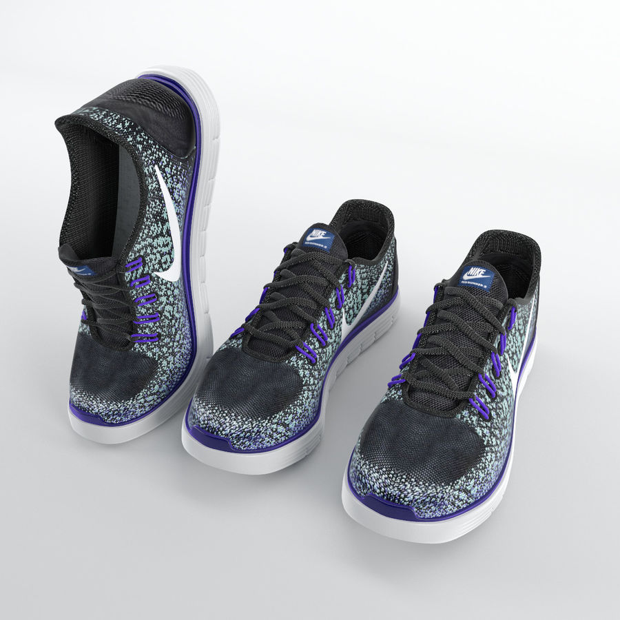e07d07afb083 Sneakers - Nike Free RN Distance royalty-free 3d model - Preview no. 2